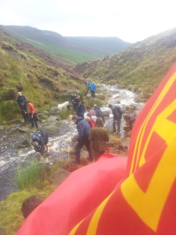 Dealing with the swollen stream crossing method #2
