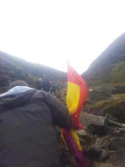 The final ascent to the summit