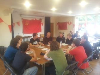 Sunday morning Education Classes with a visit from Communist Party of Britain General Secretary Robert Griffths who spoke on the CP and Elections; and the CP and the National Question
