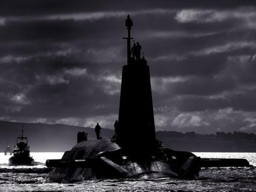 HMS Vengeance returning to HMNB Clyde