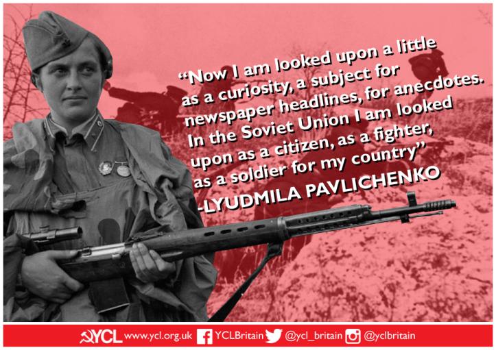 YCL Lyudmila Pavlichenko IWD 2019 poster copy